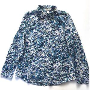 Coldwater Creek No Iron Floral Blouse